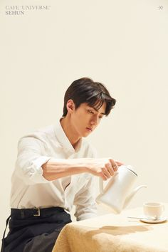EXO 's Sehun will be joining tvN's Coffee Friends as a part-time employee. On January Sehun headed to Jeju Island to participate in t.