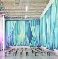 painted curtains @ palais de tokyo. diy drama.