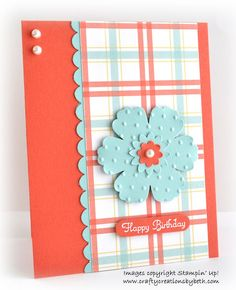 blossom punch, scallop border punch, word window punch. these colors are ADORABLE together!