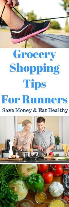 Healthy grocery shopping tips for runners. #RunningTips #Running