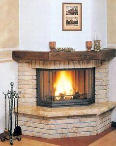 Șemine Rustic Fireplaces, Farmhouse Fireplace, Home Fireplace, Fireplace Design, Corner Stone Fireplace, Fireplace Built Ins, Interior Design Living Room, Living Room Decor, Design Case