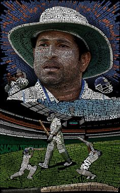 This is a typographic (text, typeface) art of the cricketer Sachin Tendulkar designed on the occasion of his hundredth The artwork is made of individual characters which represent not o. Cricket Tips, Test Cricket, Cricket Sport, Sachin Tendulkar Quotes, Ms Dhoni Wallpapers, India Cricket Team, Cricket Wallpapers, Cricket World Cup, After Life