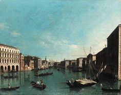 Studio of Giovanni Antonio Canal, Il Canaletto (1697-1768)  The Grand Canal, Venice, looking south from the Palazzi Foscari and Moro-Lin to the Church of Santa Maria della Caritá Price realised  USD 46,000