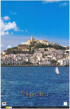 Vista de Ibiza en el 2003, cartel de turismo de España / #Spain #travel #viajar #tourism #Eivissa