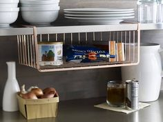 Need more space in the kitchen? This copper undershelf basket is the perfect solution, AND is on sale today only via link in our bio! #organizing