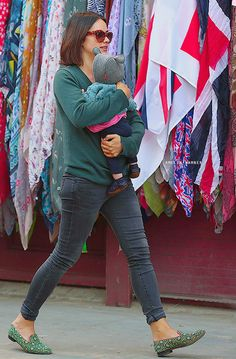 Amelia Warner and her Daughter. ♥