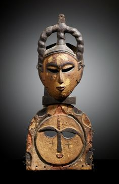 Wood with Pigment Mask from the Ibibio-Eket people of Nigeria, Africa African Masks, African Art, Ancient Aliens, Ancient Art, Africa People, Art Tribal, Art Ancien, Art Premier, Masks Art