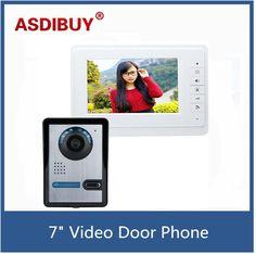 82.90$  Watch now - http://aliwrn.worldwells.pw/go.php?t=32785594351 - 7 inch TFT Color Video door phone Intercom Doorbell System Kit IR Camera doorphone indoor monitor Speakerphone intercom