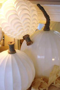 DIY ● Tutorial ● Glass Globe Pumpkins