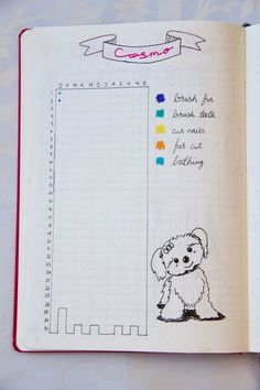 Bullet Journal Dog Tracker Pet Tracker