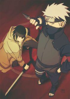 Uchiha Sasuke and Hatake Kakashi