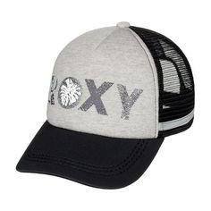 3456d26f4d7c6 Roxy Dig This Paradise Flag Trucker Hat - Heritage Heather Visor Hats