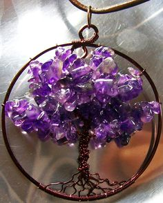 Amethyst Tree of Life Pendant 5 metals by HeatherJordanJewelry, $19.99