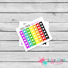 New to InkyDinkPrinting on Etsy: 7 Heart Rainbow Checklist Sample Sheet Planner Stickers Erin Condren Happy Planner Plum Planner Sticker Sampler EC Life Planner SP-07 (1.50 USD)