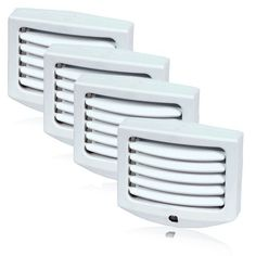 LED Night Light with Dawn to Dusk Sensor and Adjustable Louvers - 4 Pack