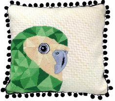 Kakapo Needlepoint Kit - a very cheeky native New Zealand parrot