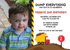 DIY Printable Dump Truck Birthday Party Invitation  by cohenlane, $10.00