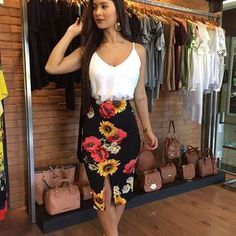Morrendo de amores por essa estampa da 45 Best and Stylish Business Casual Work Outfit for Women fashion # Love it fashion outfits cute clothings best stylish business outfits 2019 fashion Girl Fashion, Fashion Looks, Fashion Outfits, Womens Fashion, Summer Outfits, Casual Outfits, Cute Outfits, Pinterest Fashion, Stylish Outfits