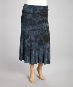 Take a look at this Teal Tie-Dye Maxi Skirt - Plus by Poliana Plus on #zulily today!