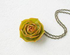 Green Succulent Pendant Wholesale Planter Unusual Pendant Small Succulent Plants Arrangement Succulent Jewelry Wedding Bridal Birthday Gifts by eteniren. Explore more products on http://eteniren.etsy.com