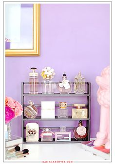 Cute way to store your perfume bottles.