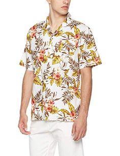 90cbcb07bc93 Isle Bay Linens Men s Relaxed-Fit Printed Hawaiian Casual Shirt
