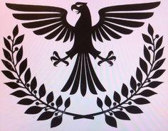 Tattoo laurel and eagle