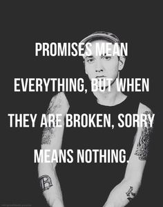 Yeah that used to be my motto then I realized sometimes sorry is enough if you mean it and your action changes I love you Roy AKA the recluse AKA motherfuking Eminem Eminem Lyrics, Hip Hop Lyrics, Eminem Rap, Eminem Quotes, Rap Quotes, Lyric Quotes, Best Quotes, Life Quotes, Qoutes