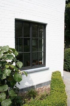 ff02abc7d9 Possible facade? Painted brick. Love the blue stone window ledge and at the  bottom