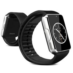 Btopllc Smart Watch, Bluetooth Smart Wrist Portable Watch Smart Watch, Touch Screen Smart Watch with SIM Card Slot and NFC for IOS iPhone, Android Samsung HTC Sony LG Smartphones (Black). Appearance vogue, the whole device is extreme thin. With HD display, high sensitive touch screen, Anti-sweating, delicate and beautiful. Portable and convenient, you can view notifications from email, SMS, Caller ID, calendar and your favorite apps on your wrist. Support MP3、MP4、AVI Bluetooth music...