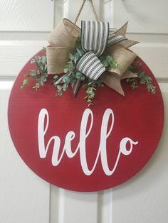 32 Fabulous Valentine Door Decorations You Will Like - Adding a touch of classy romance and country charm to a willow branch wreath can bring admirable envy to your front entry way, or any currently unador. Wooden Door Signs, Wooden Door Hangers, Wooden Doors, Wood Signs, Front Door Design, Front Door Decor, Valentine Day Wreaths, Valentines Diy, Easter Wreaths
