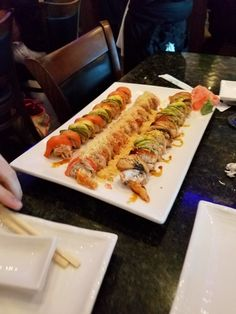 Really great place to share and enjoy sushi with friends at Sushi Hana.