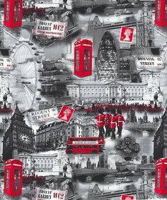 London Bridge - British Invasion - Quilt Fabrics from www.eQuilter.com