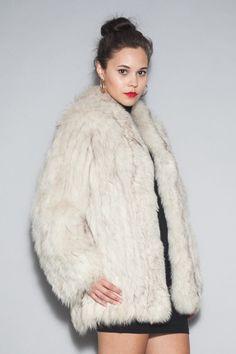 Vintage Silver Arctic Fox Fur Coat