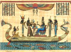 Nepthys who is the sister of Isis and wife of Seth. She is a protector over the deceased. To her left is Isis, the sister-wife of Osiris and mother of Horus. She has the virtues of mother and wife ...