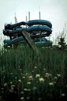 Abandoned water park - WET & WILD,Lockport, Manitoba, Canada