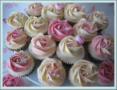 pink blush cupcakes  wonderful theme for a shower.  xo www.craftcast.com