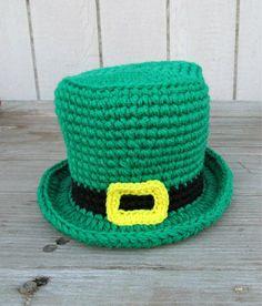 Green Baby Crochet Leprechaun hat Lucky Luck by DosCraftySisters, $20.00