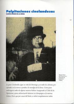 Generación del 27. Palpitaciones cinelandesas. Ramón Gómez de la Serna. En: El Maquinista de la generación, Nº. 1-2, 2000 , págs. 143-146.