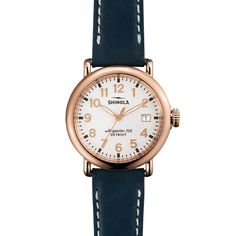 THE RUNWELL 36mm White Watch with Date