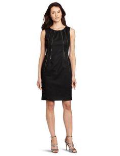 Calvin Klein Women's Shift Dress With Zippers, Black, 16 Calvin Klein http://www.amazon.com/dp/B009ATZKYS/ref=cm_sw_r_pi_dp_sJG8vb0Z8RWTY