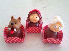 Pati Fernandes - Confeitaria Artística: Chapeuzinho Vermelho Girl Themes, Sugar Paste, Cake Boss, Red Riding Hood, Little Red, 3rd Birthday, Truffles, First Birthdays, Party Favors