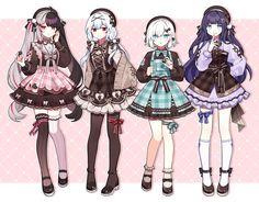 Manga Clothes, Drawing Anime Clothes, Anime Girl Drawings, Kawaii Drawings, Cute Drawings, Anime Girl Dress, Manga Anime Girl, Anime Girl Cute, Kawaii Anime Girl