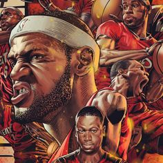 Miami Heat BIG THREE Illustration