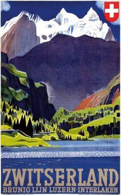 Swiss Travel Art: Look for Otto Baumberger
