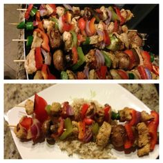 Italian chicken kabobs . The dolce diet living lean cookbook.. Yum