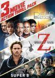 3 Movie Action Thrill Pack: Deep Impact/World War Z/Super 8 [3 Discs] [DVD]