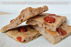 Bread and Butter.....: Whole wheat spelt and cherry tomatoes focaccia!!!