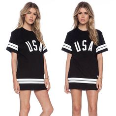 Women High-grade fabrics Striped Casual SPORT Mini Dress TEE Blouse T Shirt TOPS in Clothes, Shoes & Accessories, Women's Clothing, Dresses | eBay