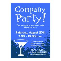 111 Best Corporate Party Invitations Images In 2019